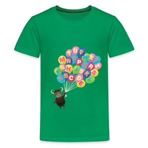 Alphabet Balloon Yak - Kids' Premium T-Shirt