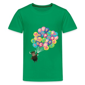 Alphabet Balloon Yak - Kids' Premium T-Shirt