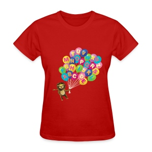 Alphabet Balloon Lion for women - Women's T-Shirt
