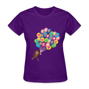 Alphabet Balloon Monkey for women - Women's T-Shirt