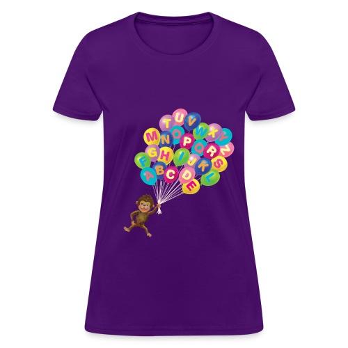 Alphabet Balloon Monkey for women - Women's T-Shirt