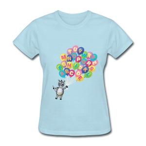 Alphabet Balloon Zebra for women - Women's T-Shirt