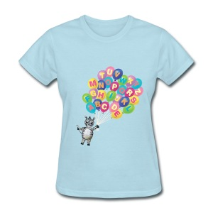 Alphabet Balloon Zebra for women - Women's T-Shirt
