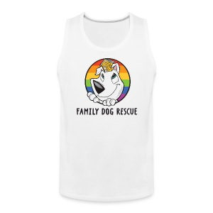 Family Dog Rescue Pride (Dog + Human = Family on Back): Men's Tank - Men's Premium Tank