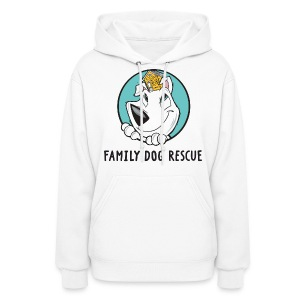Family Dog Rescue (Dog + Human = Family on Back) Women's Hoodie - Women's Hoodie