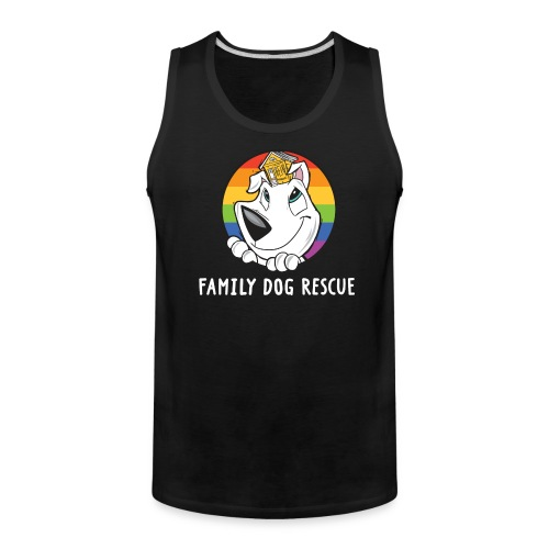 Family Dog Rescue Pride (Dog + Human on Back): Men's Tank - Men's Premium Tank