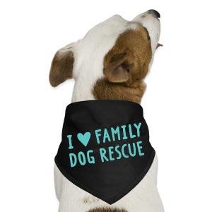 I Heart Family Dog Rescue: Dog Bandana - Dog Bandana