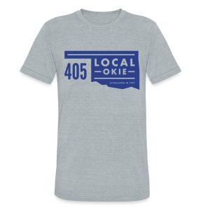 Local Okie / State - Unisex Athletic Grey - Unisex Tri-Blend T-Shirt by American Apparel