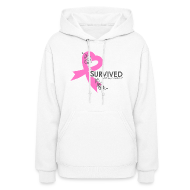 Hoodies ~ Women's Hoodie ~ I Survived Breast Caner