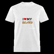 T-Shirts ~ Men's T-Shirt ~ Dude's T-Shirt - I heart my beard