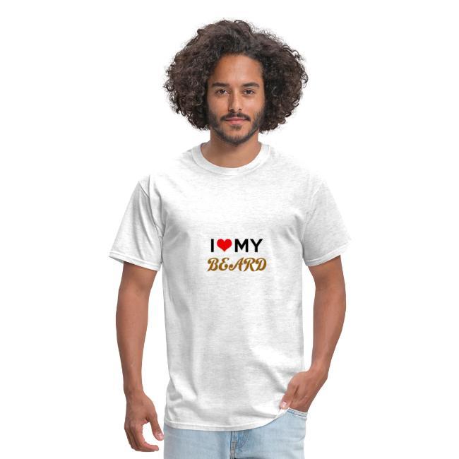 Dude's T-Shirt - I heart my beard