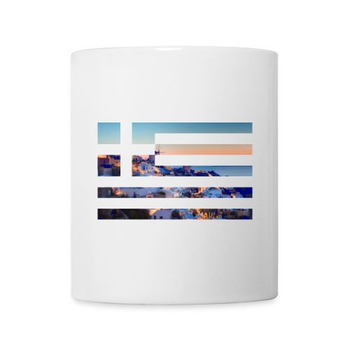 Santorini ft. Greece flag (Mug) - Coffee/Tea Mug