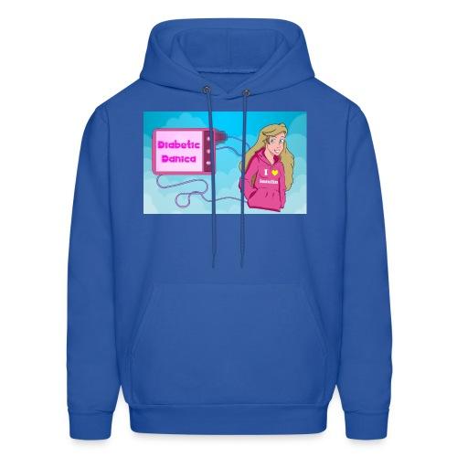 DiabeticDanica Logo Men's Hoodie - Men's Hoodie