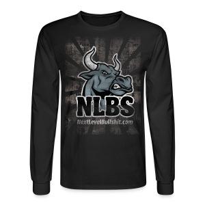 NLBS Grunge Long-Sleeve, Men's Black - Men's Long Sleeve T-Shirt