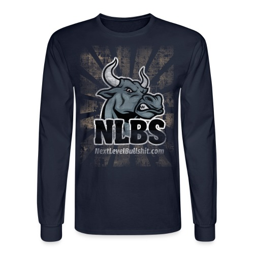 NLBS Grunge Long-Sleeve: Men's Brown - Men's Long Sleeve T-Shirt