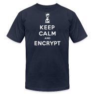 T-Shirts ~ Men's T-Shirt by American Apparel ~ Keep Calm and Encrypt