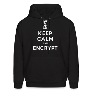 Keep Calm and Encrypt - Men's Hoodie