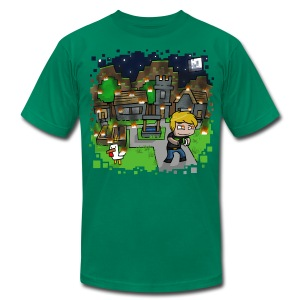 Minecraft Burn It Down - Men's T-Shirt by American Apparel