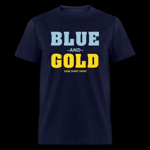 Blue And Gold - Mens T-Shirt - Men's T-Shirt
