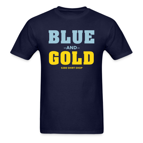 Blue And Gold - Mens T-Shirt - Men's T-Shirt