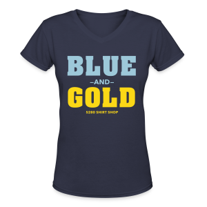 Blue And Gold - Ladies V-Neck - Women's V-Neck T-Shirt