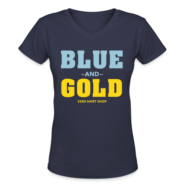 Blue And Gold - Ladies V-Neck