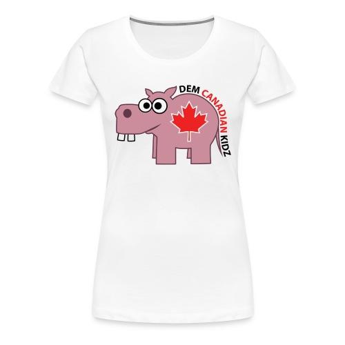 Fitted T-Shirt - Dem Canadian Kidz - Women's Premium T-Shirt