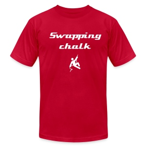 Swapping chalk - Men's T-Shirt by American Apparel