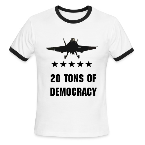 20 Tons of Democracy - Men's Ringer T-Shirt
