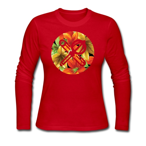 floral crest - Women's Long Sleeve Jersey T-Shirt