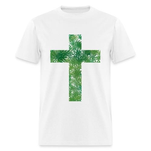 Cannabis Cross T-Shirt - Men's T-Shirt