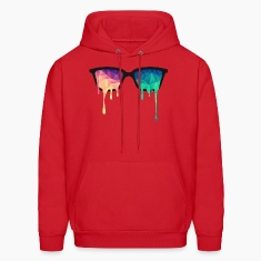 Abstract Psychedelic Nerd Glasses with Color Drops Hoodies
