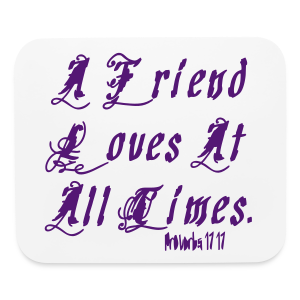 A friend loves at.... - Mouse pad Horizontal
