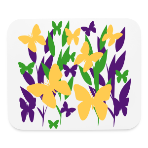 butterfly garden - Mouse pad Horizontal