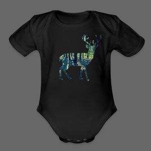 Michigan Deer - Short Sleeve Baby Bodysuit