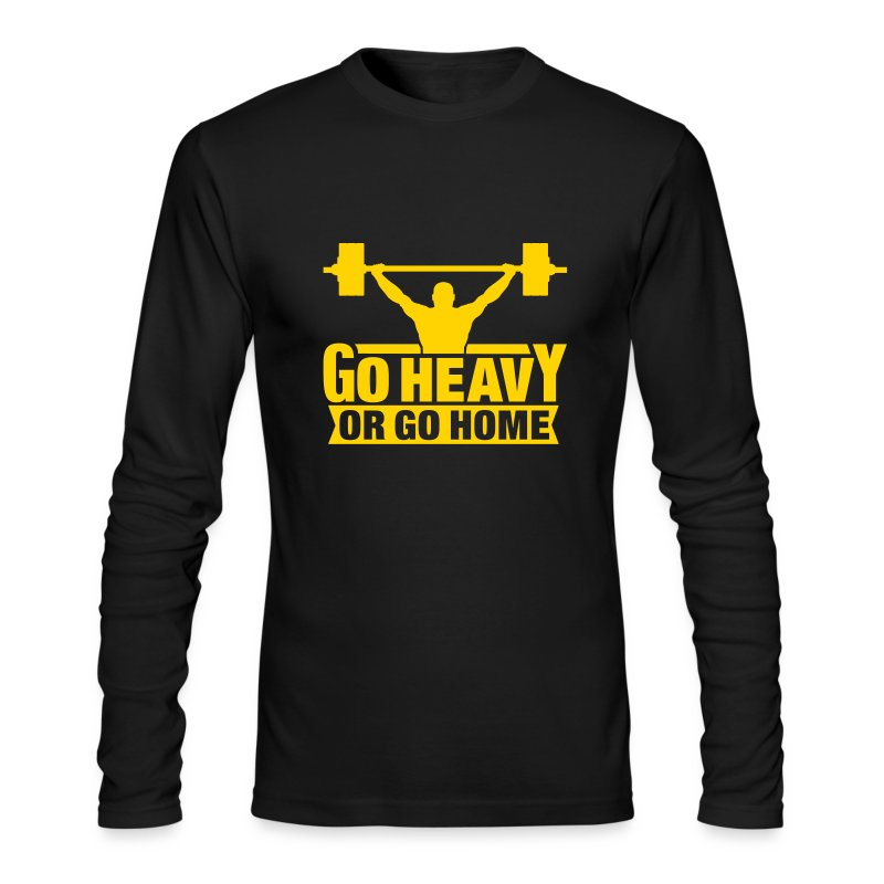 GO HEAVY - Men's Long Sleeve T-Shirt by Next Level