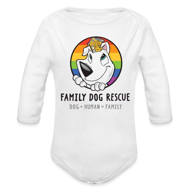 Family Dog Rescue Pride (Mission on Back): Baby Long Sleeve One Piece