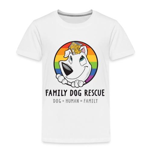 Family Dog Rescue Pride (Mission on Back): Toddler Shirt - Toddler Premium T-Shirt