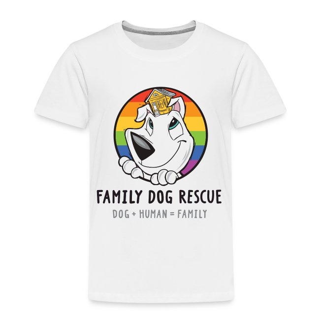 Family Dog Rescue Pride (Mission on Back): Toddler Shirt