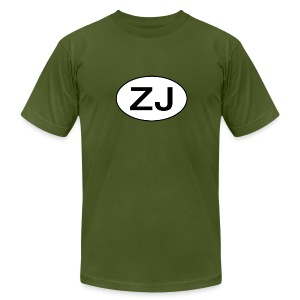 Jeep ZJ oval - Men's T-Shirt by American Apparel