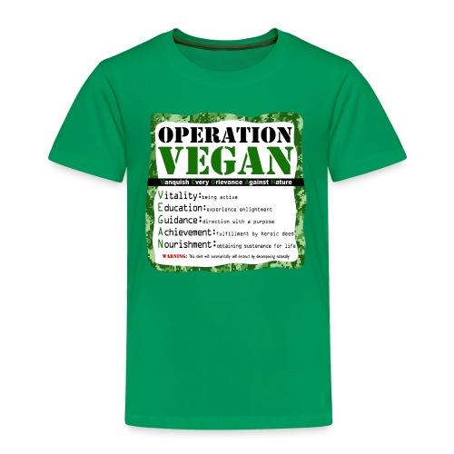 OPERATION VEGAN Green - Toddler Premium T-Shirt
