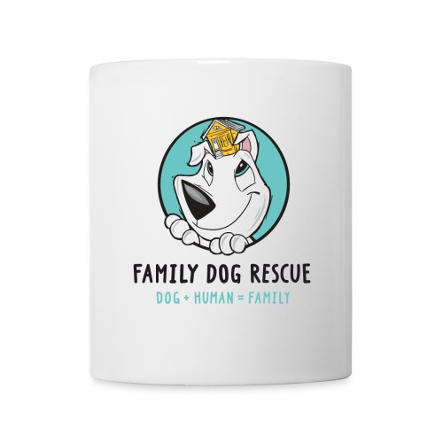 Family Dog Rescue (Mission on Back): Coffee/Tea Mug - Coffee/Tea Mug