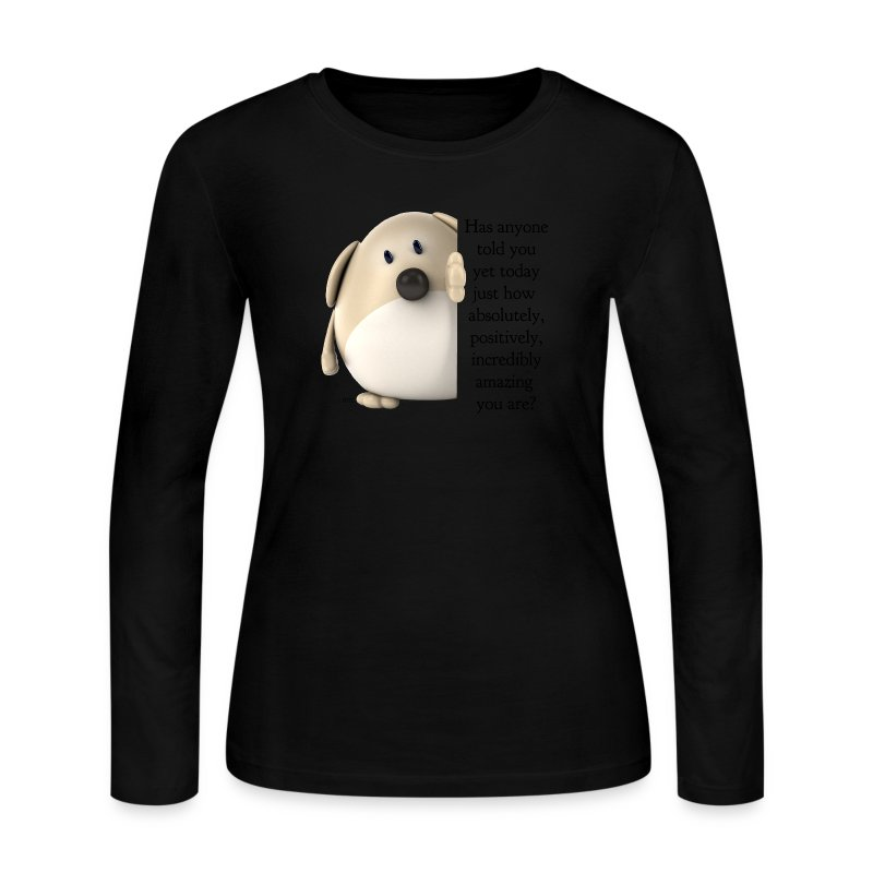 Amazing Dog Long Sleeve Tee (light shirts) - Women's Long Sleeve Jersey T-Shirt