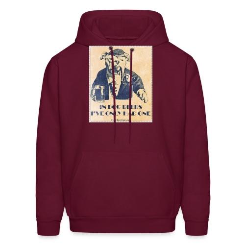 Vintage In Dog Years I've Only Had One Men's Hooded Sweatshirt - Men's Hoodie