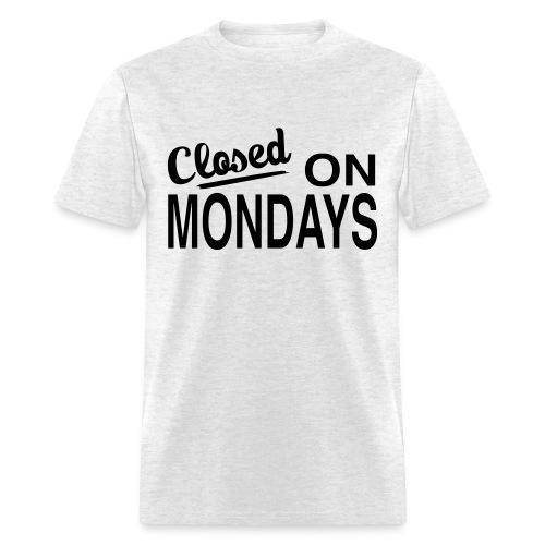 Men's Closed On Mondays T-Shirt - Black Logo - Men's T-Shirt
