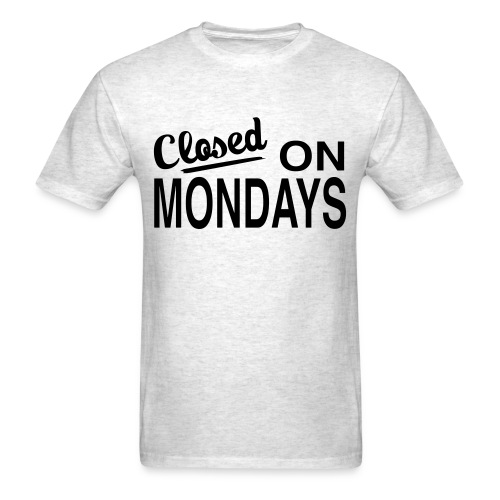 Men's Closed On Mondays T-Shirt - Black Logo - Men's T-Shirt