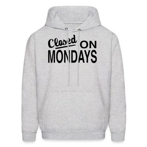 Men's Closed On Mondays Hoody - Black Logo - Men's Hoodie
