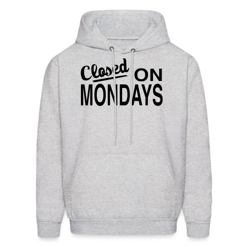 Men's Closed On Mondays Hoody - Black Logo - Men's Hoodie
