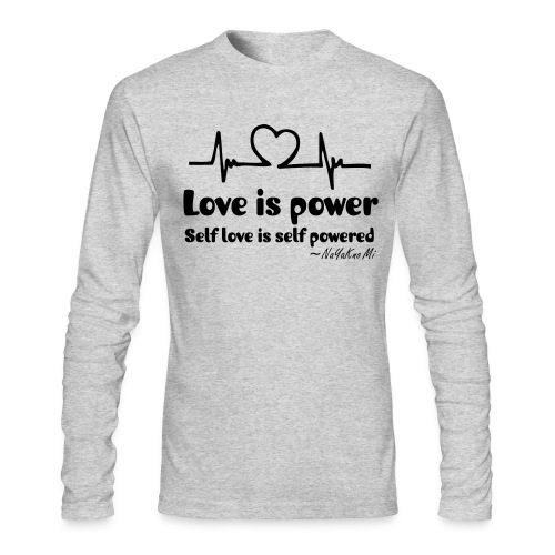 Love Power LONG SLEEVES - Men's Long Sleeve T-Shirt by Next Level