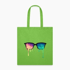 Abstract Psychedelic Nerd Glasses with Color Drops Bags & backpacks